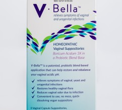 V-Bella®-Patented Boric Acid in a Probiotic Blend vaginal suppository- supports intimate wellness, maintenance of Vaginal pH Balance